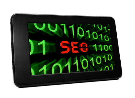 Seo text on Pc tablet Stock Photo - 20847136