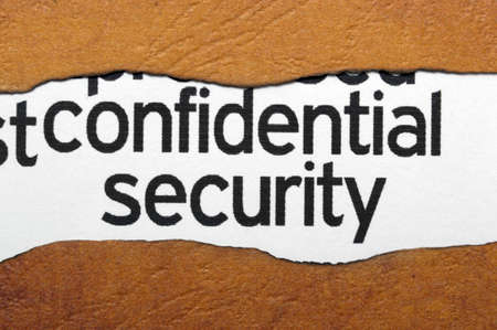 Confidential security concept Stock Photo - 20846932