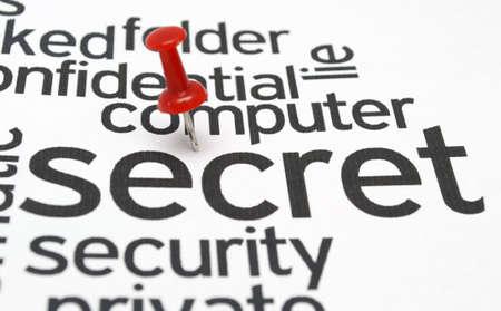Computer secret security Stock Photo - 20847197