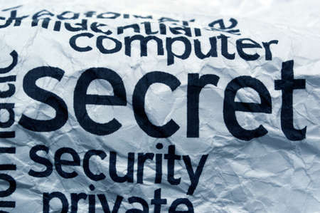 Computer secret security Stock Photo - 20846899