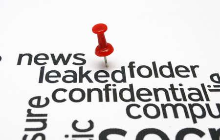 espionage: Confidential folder Stock Photo