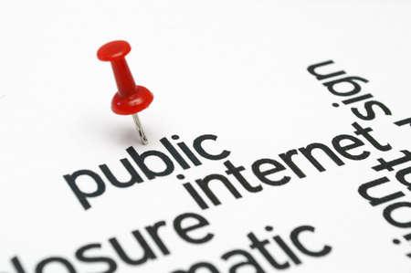 Public internet word cloud photo