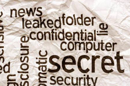 diplomatic: Confidential secret computer security concept Stock Photo