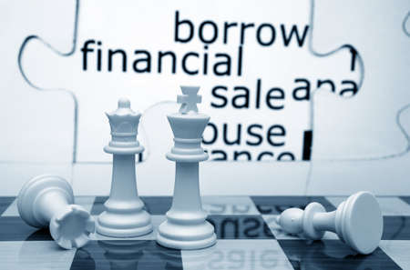 Borrow financial sale chess concept photo