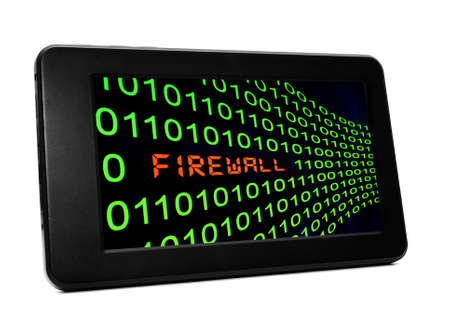 FIrewall on pc tablet Stock Photo - 21046927
