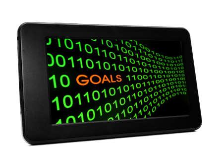 Goal on pc tablet photo