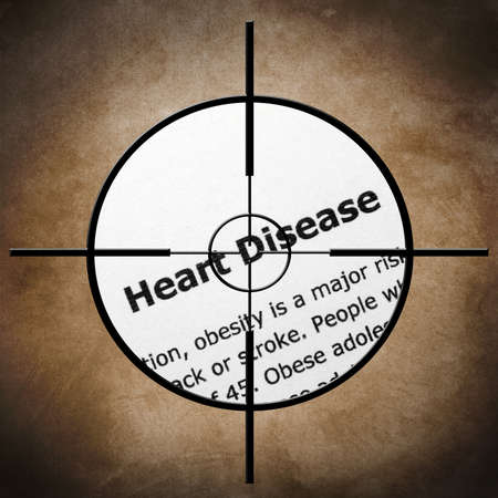 narcotism: Heart disease target concept
