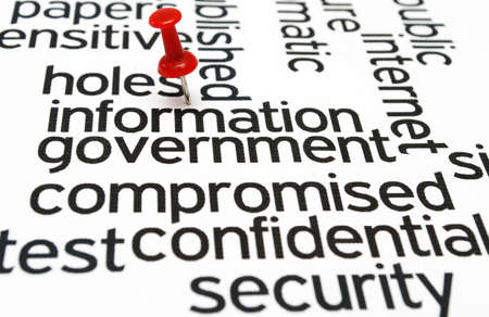 compromised: Hole information government Stock Photo