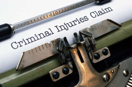 compensated: Criminal injuries claim Stock Photo