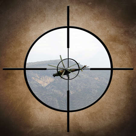 Military target on helicopter Stock Photo - 21172194