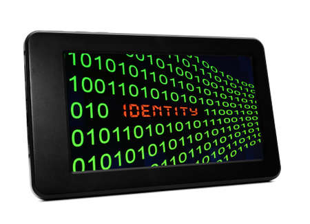 Identity concept on PC tablet photo