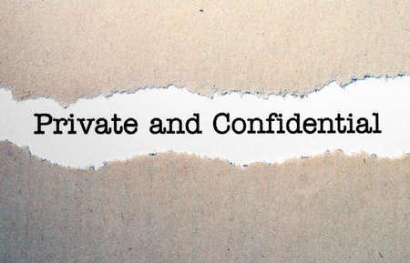 Prive en vertrouwelijk