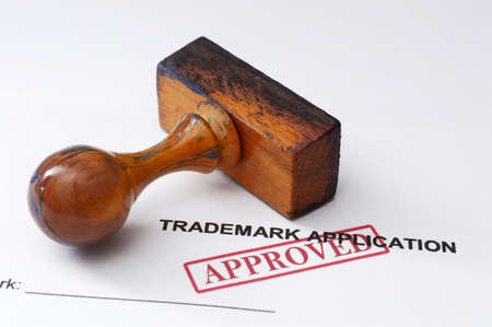 Merkaanvraag - goedgekeurd Stockfoto
