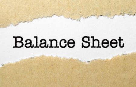 valorization: Balance sheet