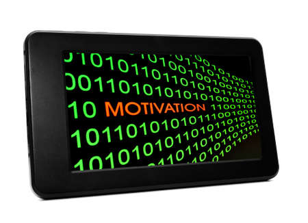 Motivation concept on PC tablet photo