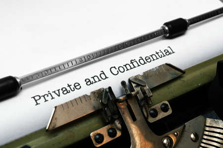behind scenes: Private and confidential Stock Photo