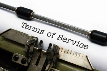 Terms of service Stock Photo
