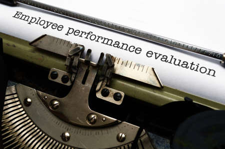 Employee performance evaluation photo