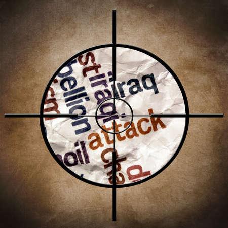 Iraq attack concept photo