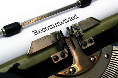 Recommended text  on typewriter photo