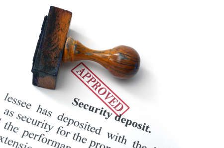 Security deposit  - approved Stock Photo - 21292482