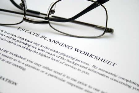 Estate planning werkblad