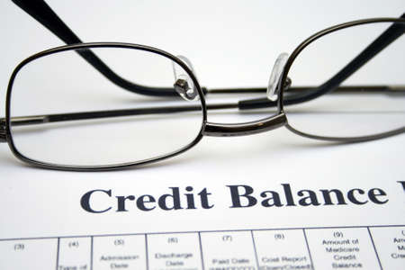 bank statement: Credit balance report