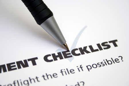 Checklist photo