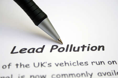poison sea transport: Air pollution from cars Stock Photo