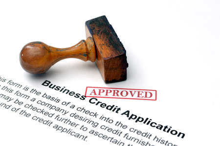 valid: Business credit application Stock Photo