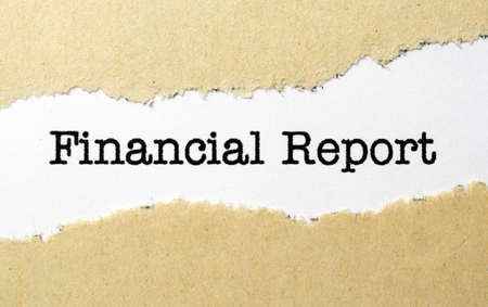 Financial report photo
