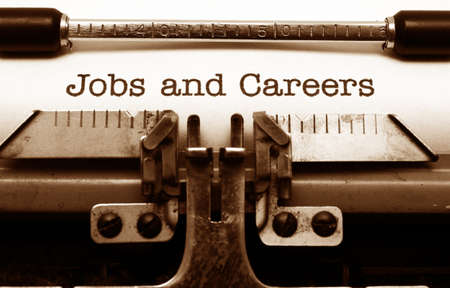 biography: Jobs and careers Stock Photo