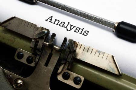 Analysis photo