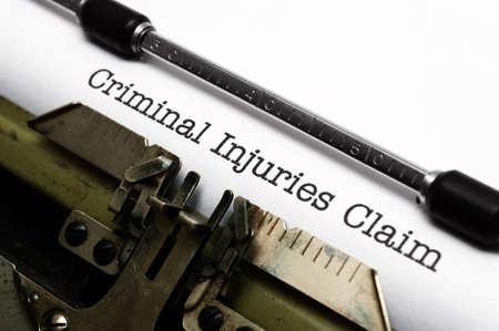 compensated: Criminal injury claim Stock Photo