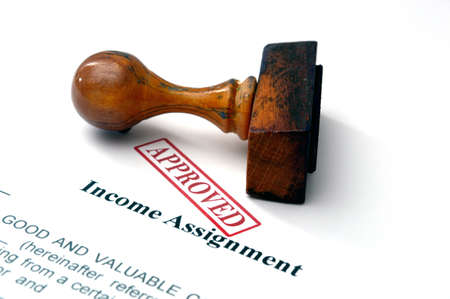 Income assignment Stock Photo - 21633623
