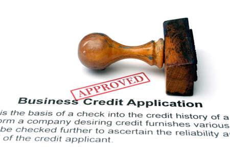 financial official: Business credit application Stock Photo