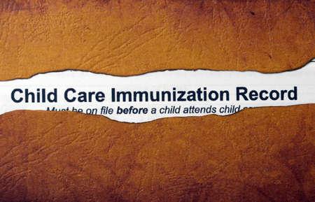 immunization: Immunization concept Stock Photo