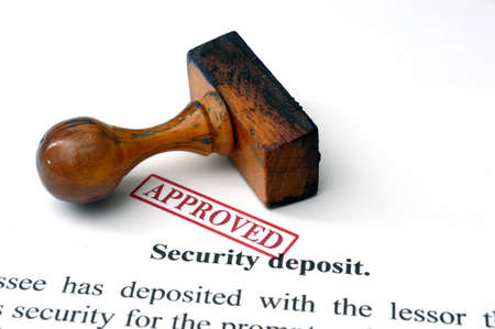 Security deposit Stock Photo - 21634168