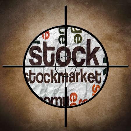 stockmarket: Stockmarket target Stock Photo