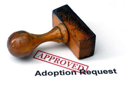 demande d'adoption - approuvé Banque d'images