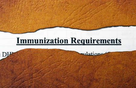 immunization: Immunization Stock Photo