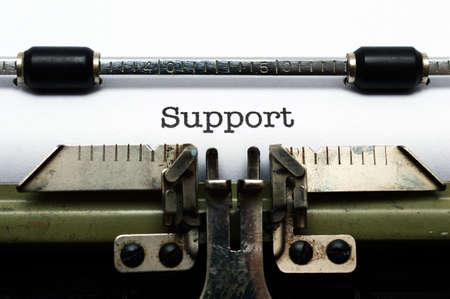 Support on typewriter photo