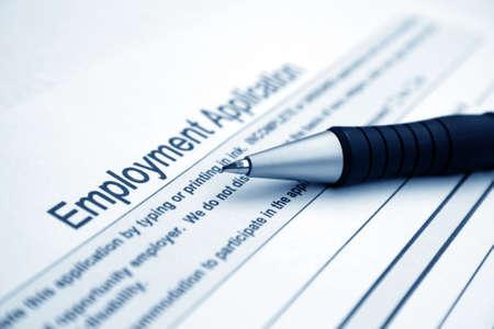 find a job: Employment application Stock Photo