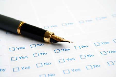 Business survey form Stock Photo