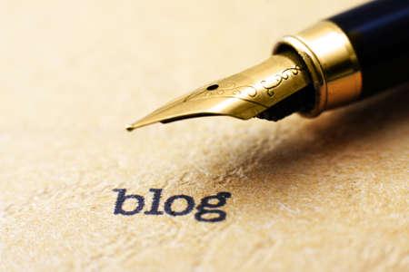 Blog begrip Stockfoto