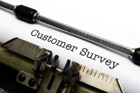 Customer survey form photo