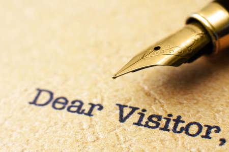 Dear visitor Stock Photo - 21818274