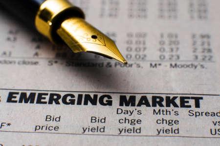 Opkomende markt Stockfoto
