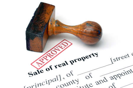 repossession: Sale of real property Stock Photo