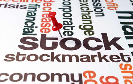 negative equity: Stock market Stock Photo